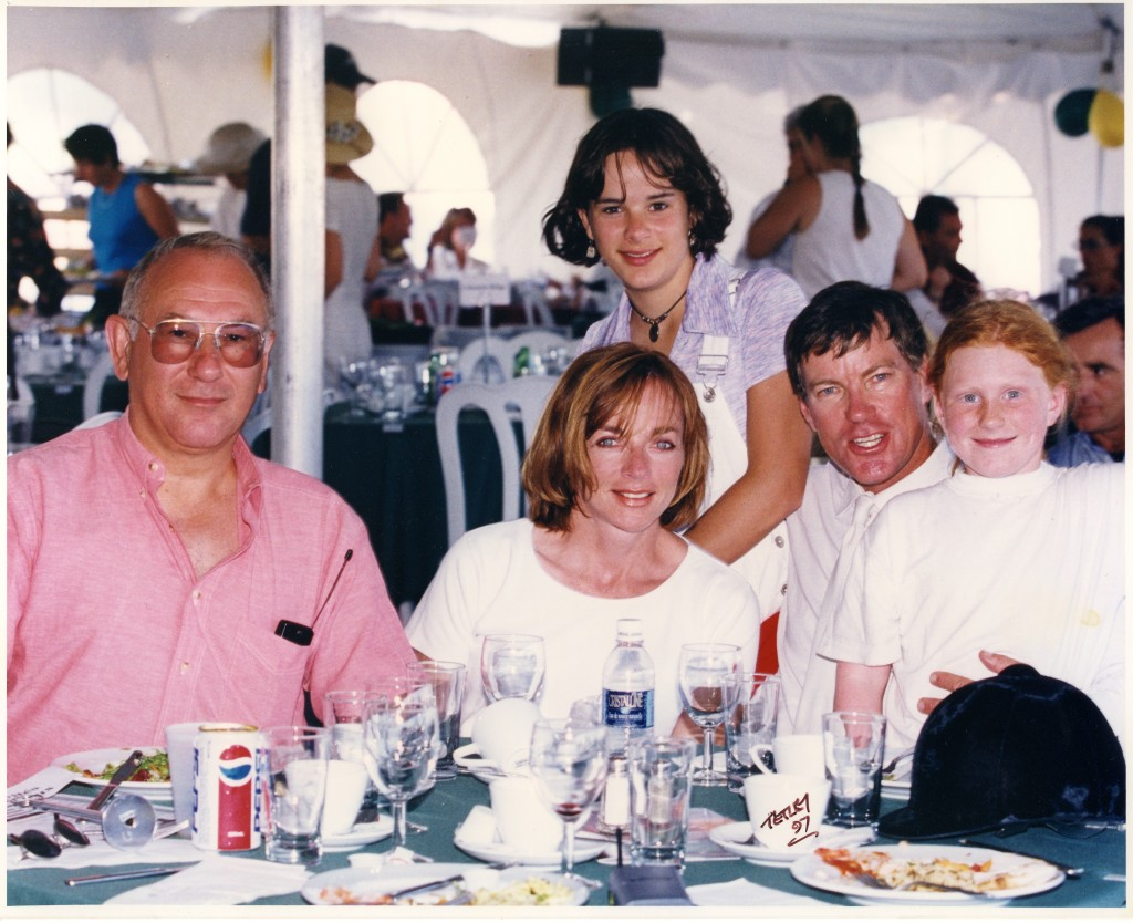 Seymour, Gloria and Lauren  Epstein dine with Hugh and Laurel Graham at a horse show in the late 1990s. Photograph by Cealy Tetley.