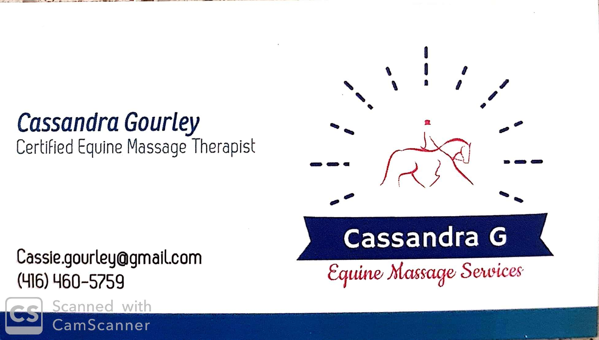 Cassandra G, Equine Massage Services